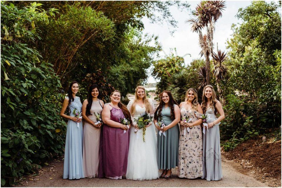 mismatched boho bridal party