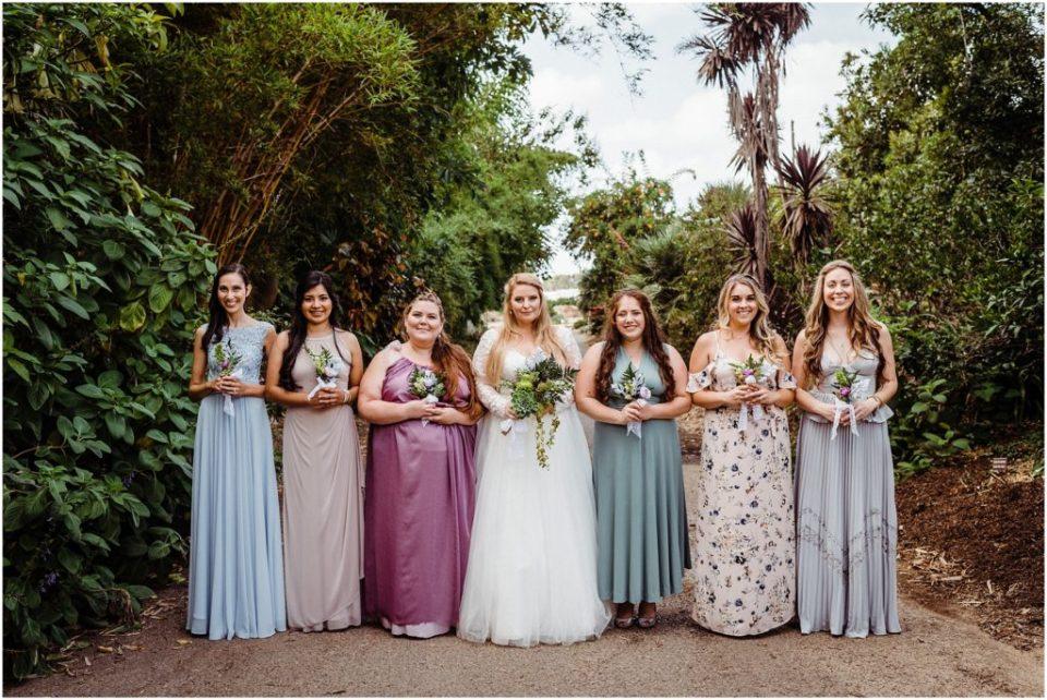cool toned boho bridal party