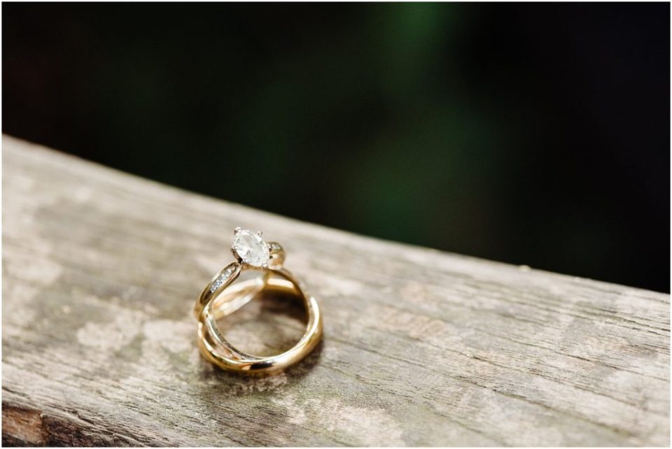 garden inspired wedding details