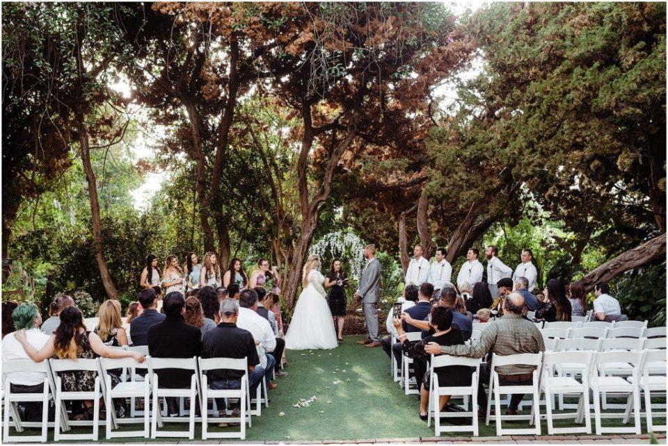 san diego botanic garden wedding ceremony