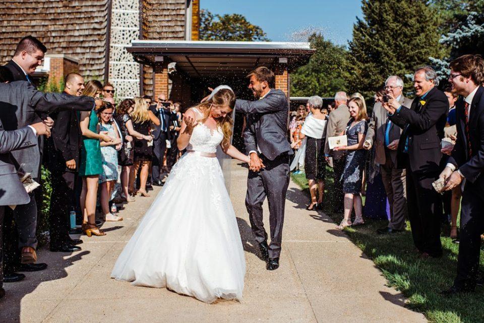 birdseed exit from church wedding