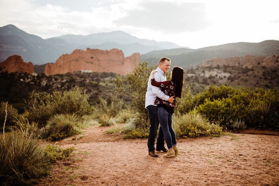 engagement session at mesa overlook in colorado springs