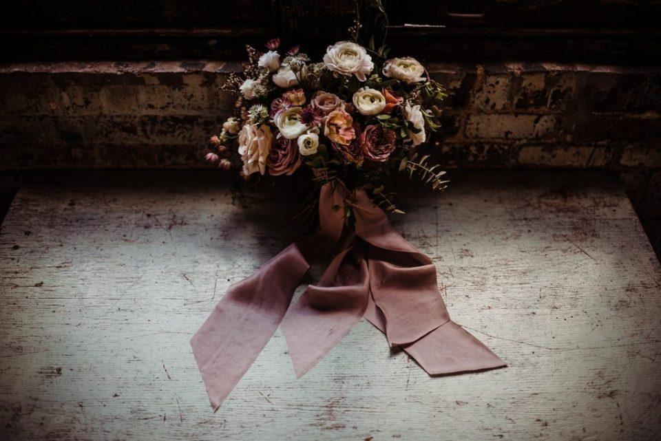 moody wedding flower bouquet