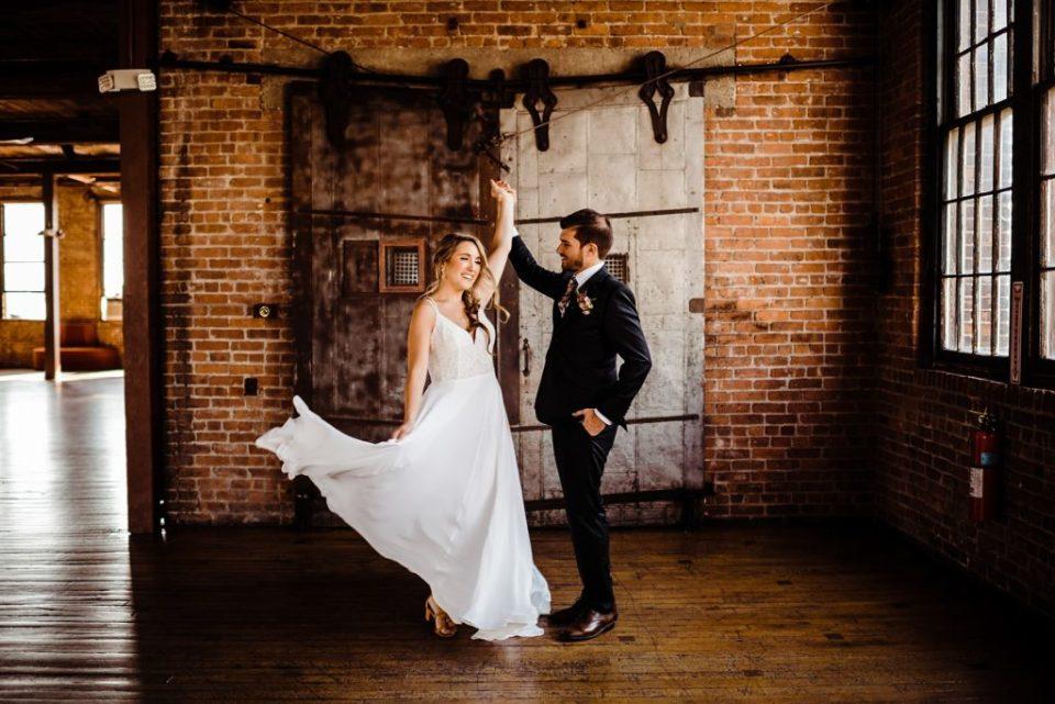 wedding photos at the metropolitan building in queens new york