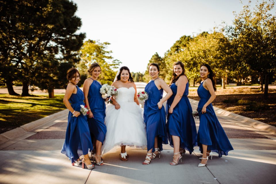bridal party showing off their shoes