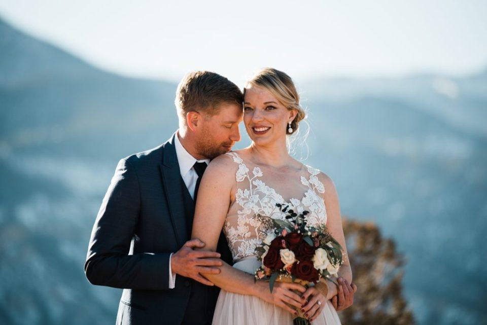wedding photos at high point at garden of the gods in colorado springs