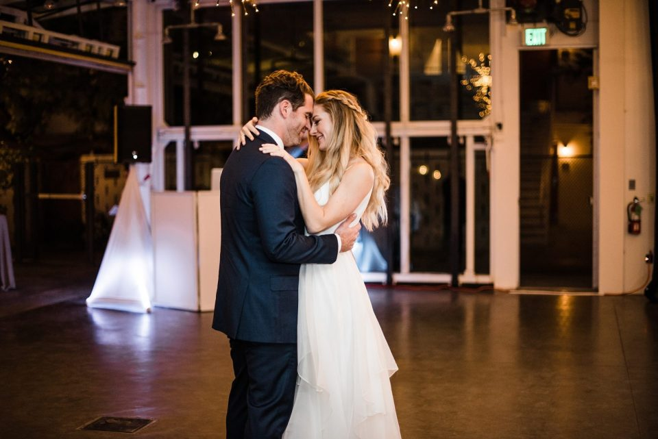 first dance at ace hotel wedding reception