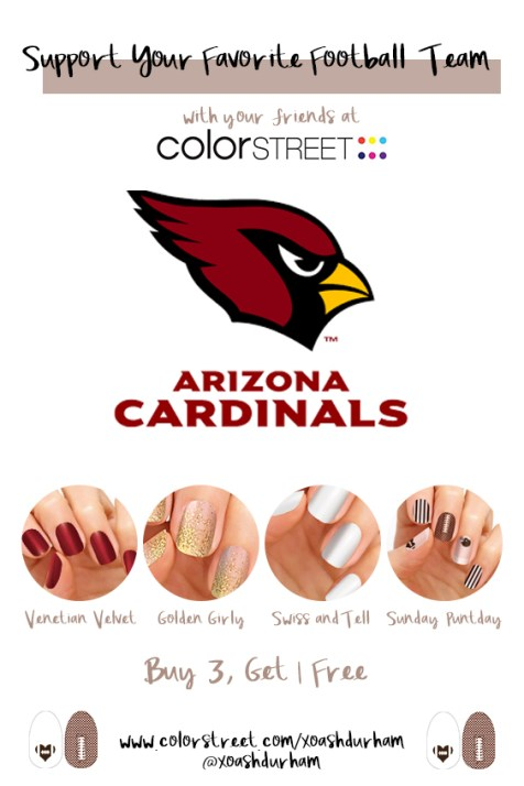 arizona cardinals manicure with color street