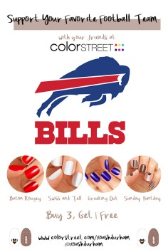Buffalo Bills DIY Manicure with Color Street