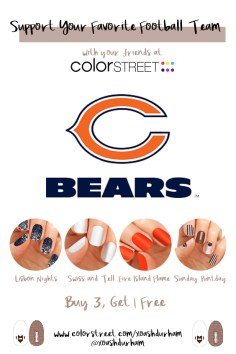 Chicago Bears DIY Manicure with Color Street