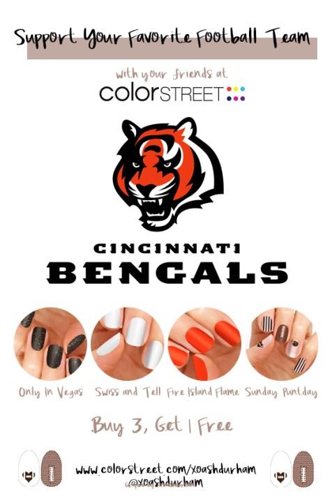 Cincinnati Bengals DIY Manicure with Color Street