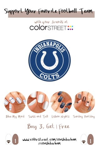 Indianapolis Colts DIY Manicure with Color Street