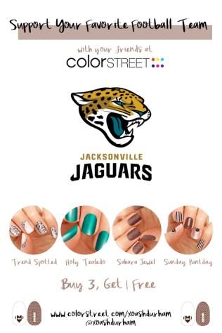 Jacksonville Jaguars DIY Manicure with Color Street