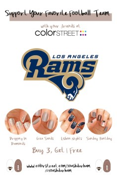 Los Angeles Rams DIY Manicure with Color Street