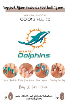 Miami Dolphins DIY Manicure with Color Street