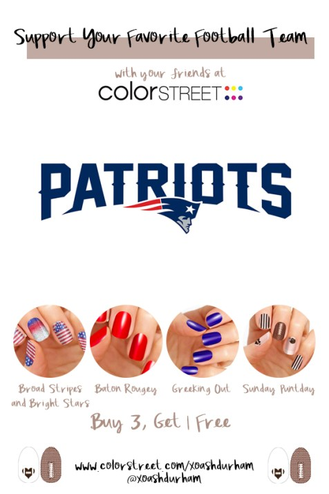 New England Patriots DIY Manicure with Color Street