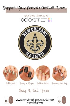 New Orleans Saints DIY Manicure with Color Street