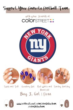 New York Giants DIY Manicure with Color Street