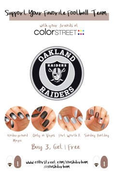 Oakland Raiders DIY Manicure with Color Street