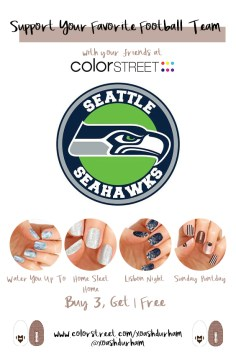 Seattle Seahawks DIY Manicure with Color Street