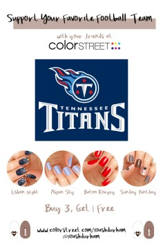 Tennessee Titans DIY Manicure with Color Street