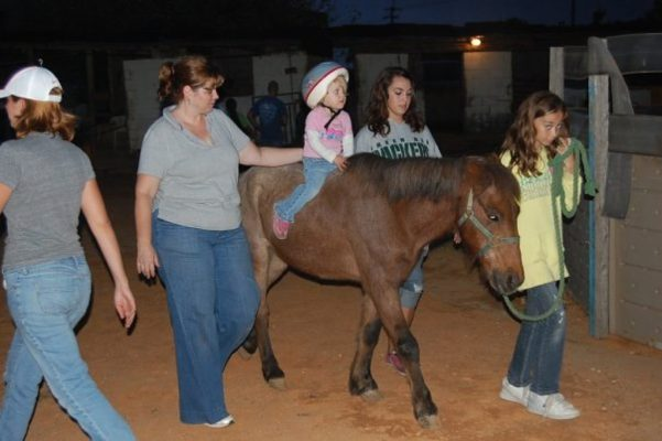physical therapy on a horse for children