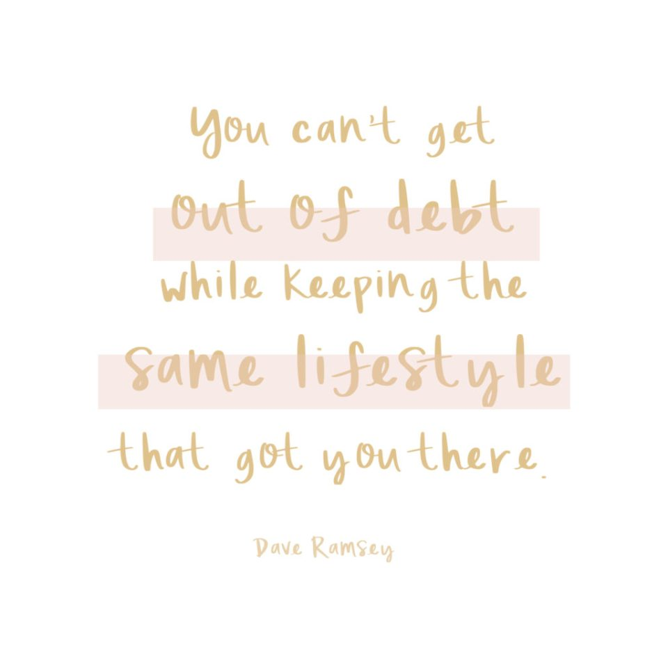 DAVE RAMSEY QUOTE about lifestyle and debt