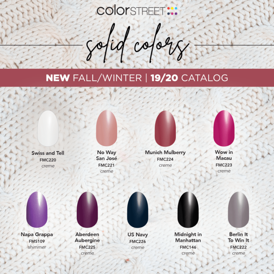 Fall 2019 Solids from Color Street