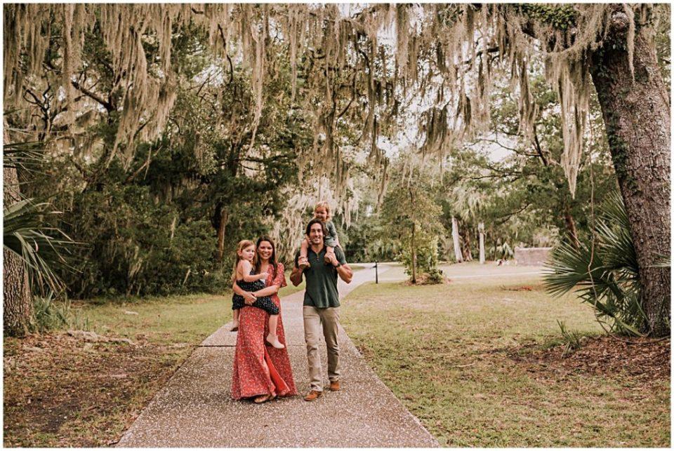 family photos on Jekyll Island