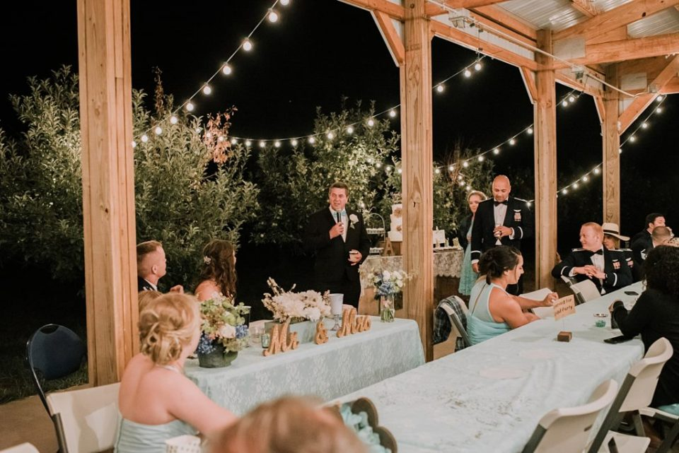 outdoor barn wedding reception