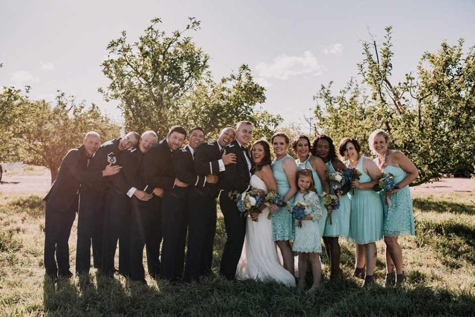 apple orchard wedding party