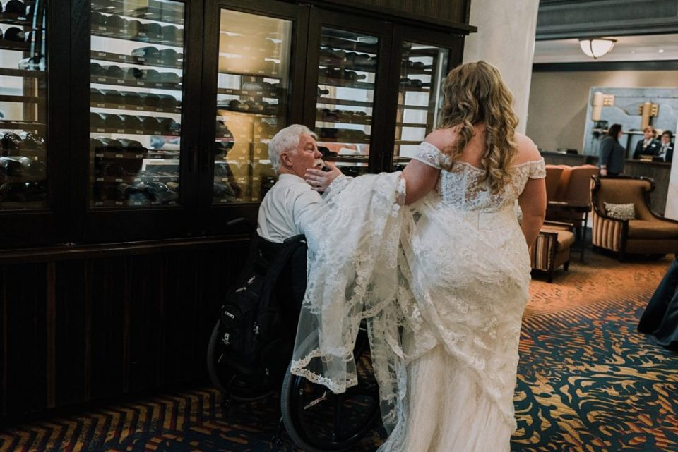 first look with dad in a wheelchair
