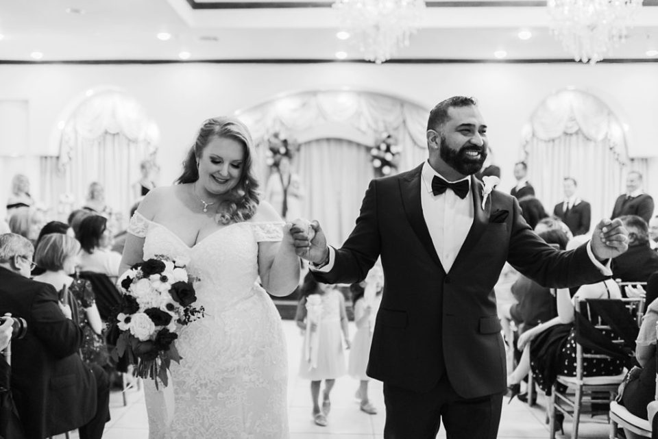 indoor wedding ceremony at sterling banquet hall #4 in pasadena texas