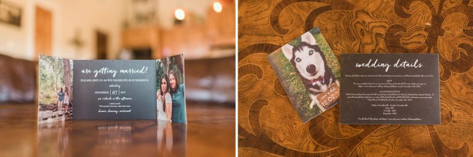 wedding invitation with dog