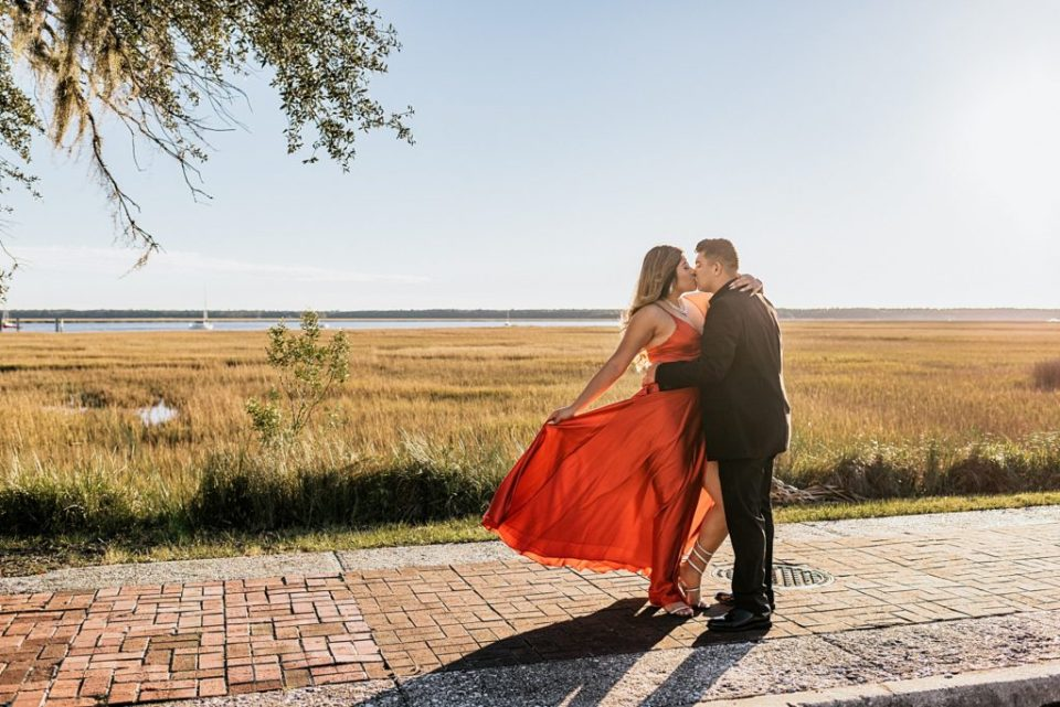 st mary's waterfront engagement session