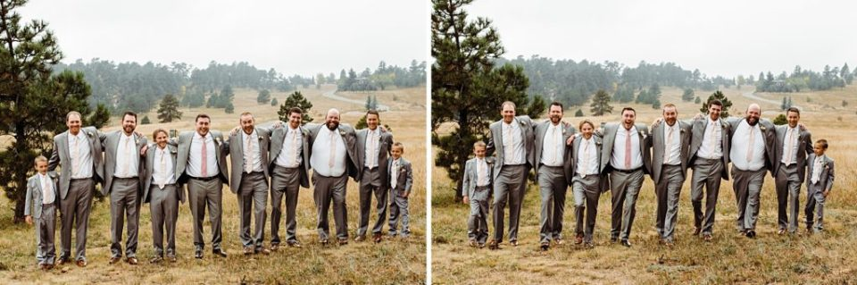 groomsmen being silly togeter
