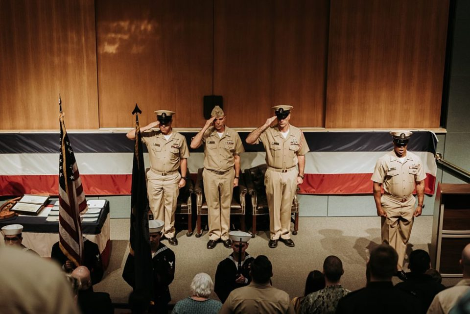 navy retirement ceremony at kings bay