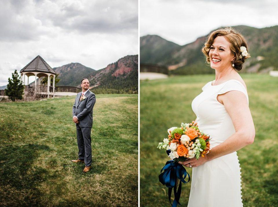 wedding portraits of bride and groom