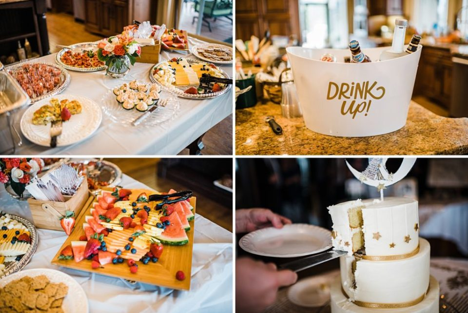 DIY wedding reception food set up