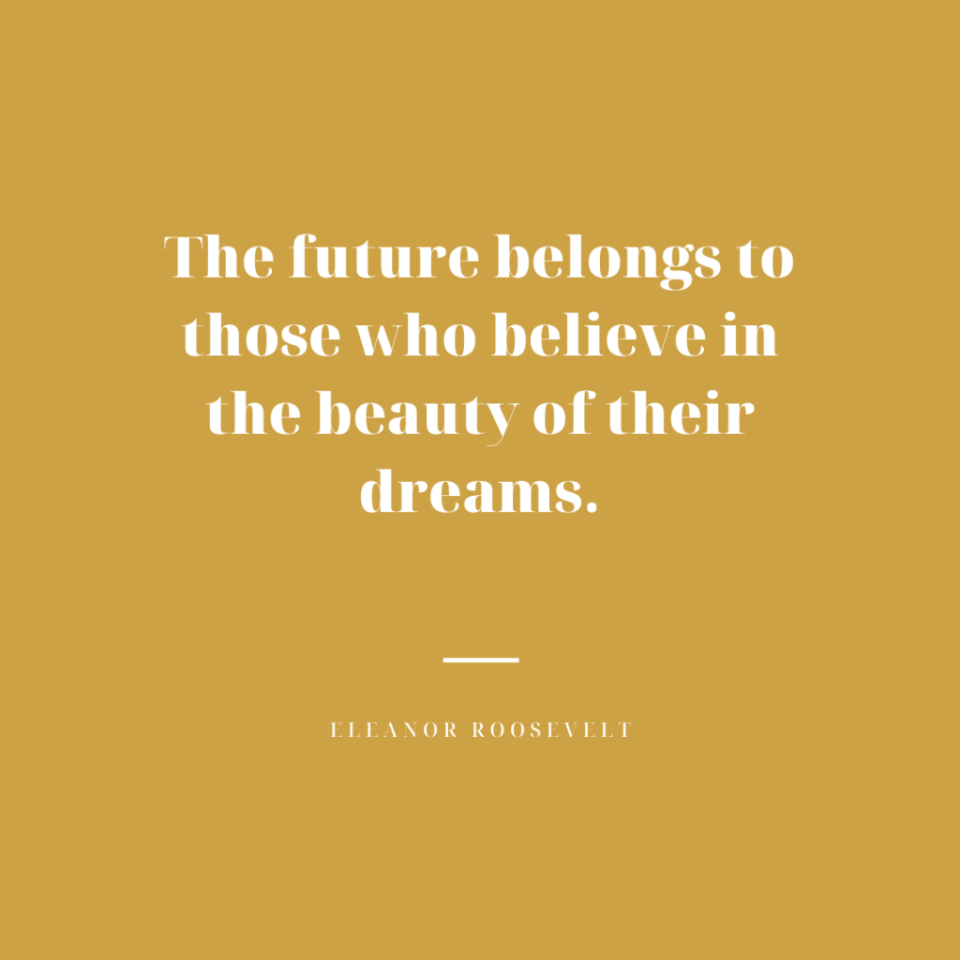 eleanor roosevelt quote about the future