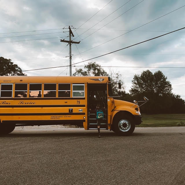 back to school on the bus