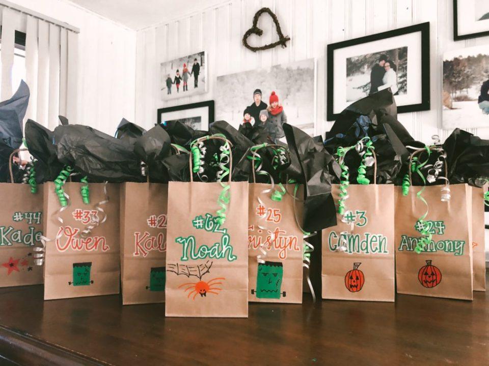 homemade halloween treat bags
