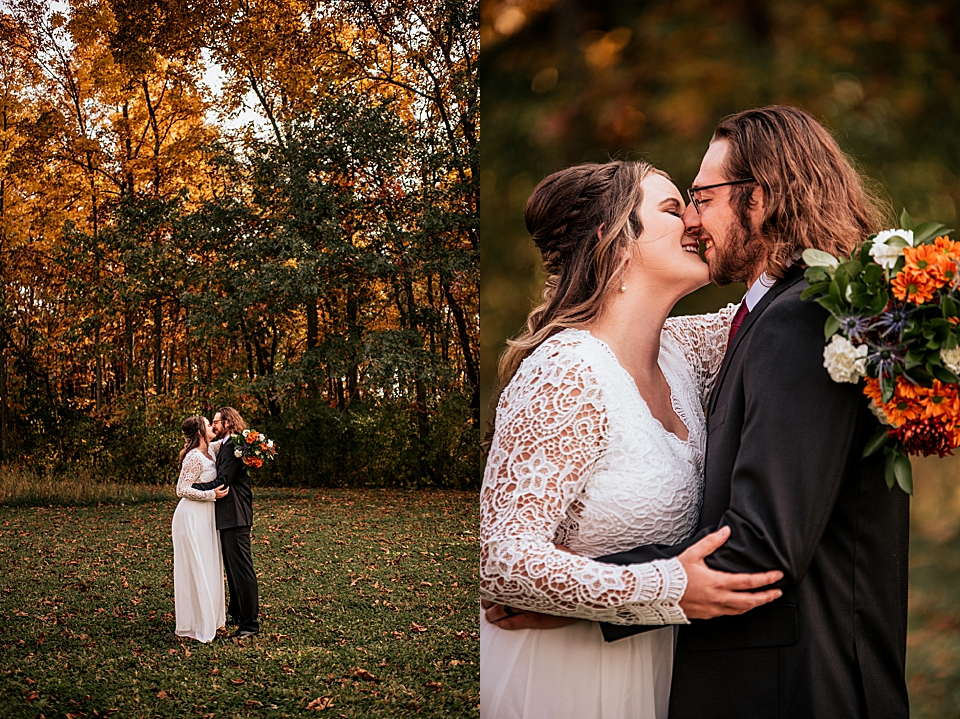 wisconsin wedding in the fall