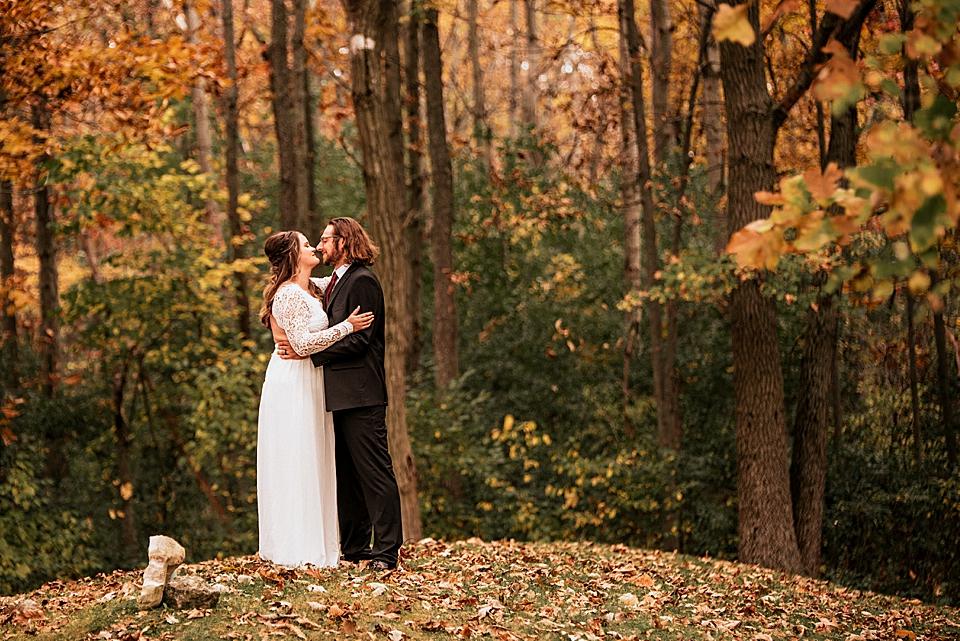 intimate elopement autumn wisconsin