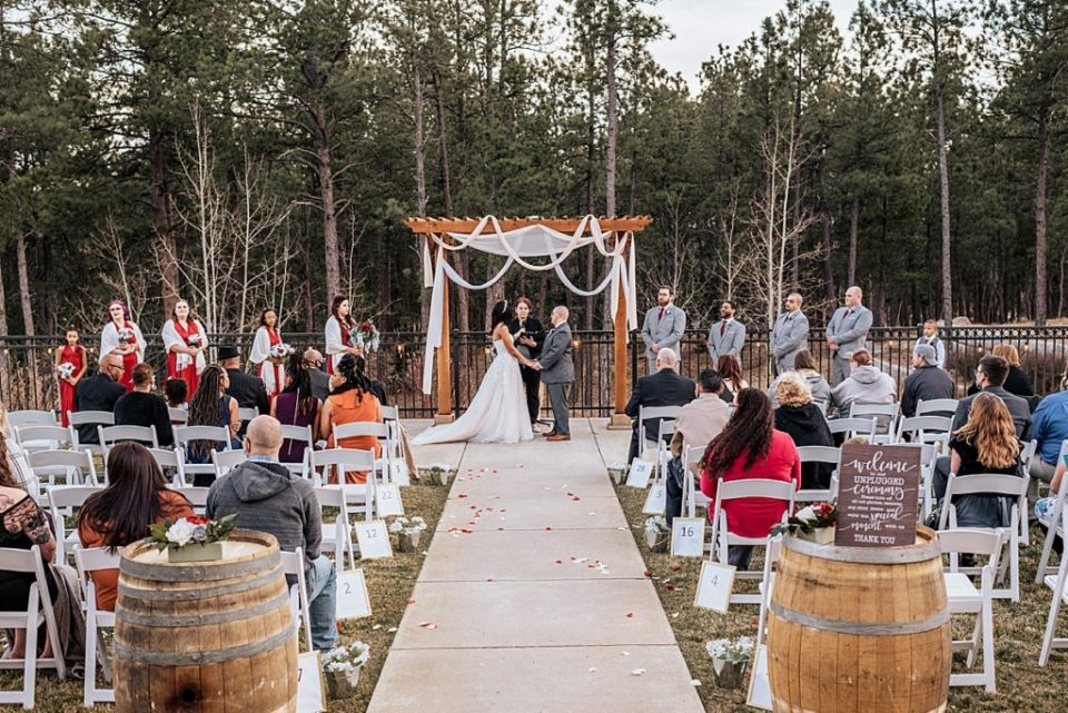 outdoor ceremony at wedgewood black forest