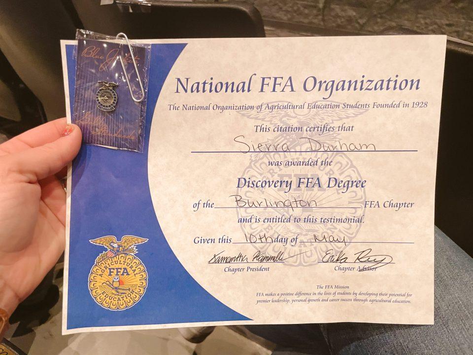 receiving discover ffa degree