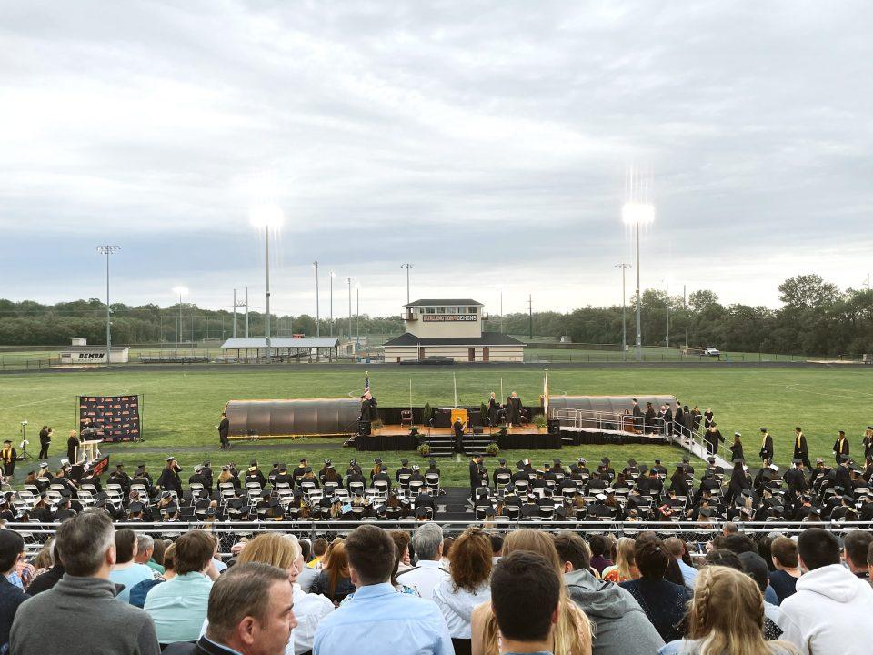 high school graduation at don dalton stadium burlington wisconsin