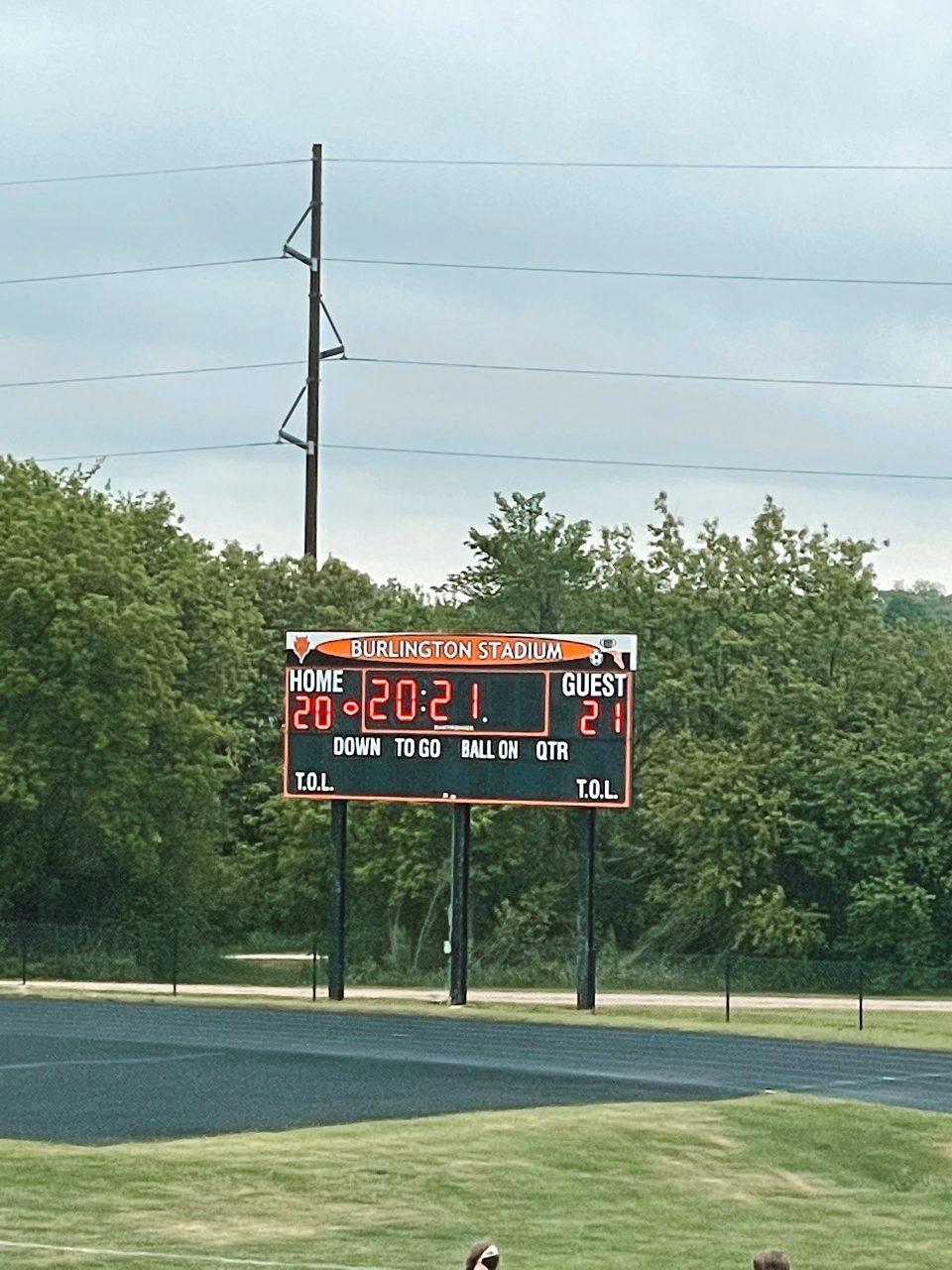 class of 2021 on the scoreboard