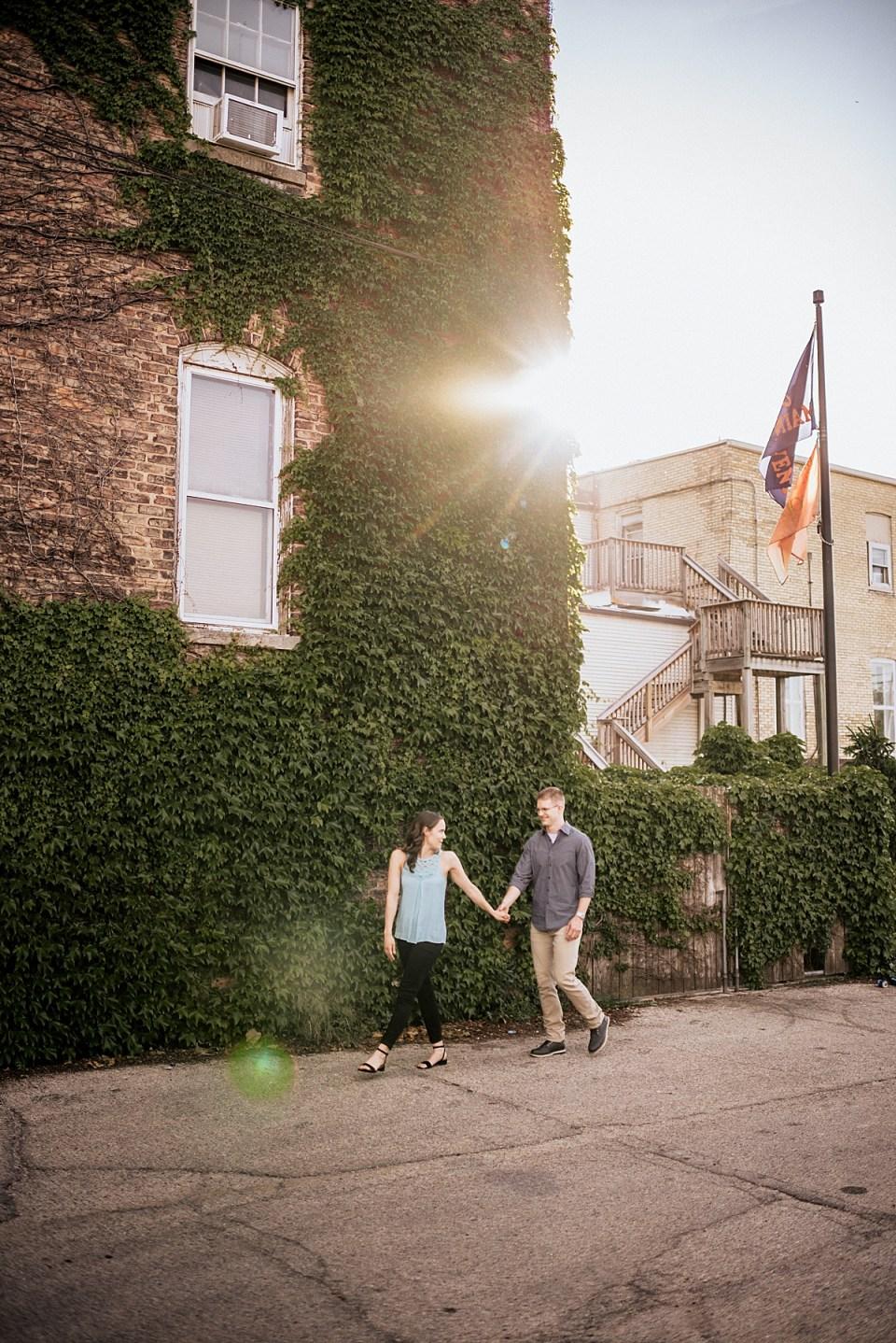 romantic burlington wisconsin engagement photo