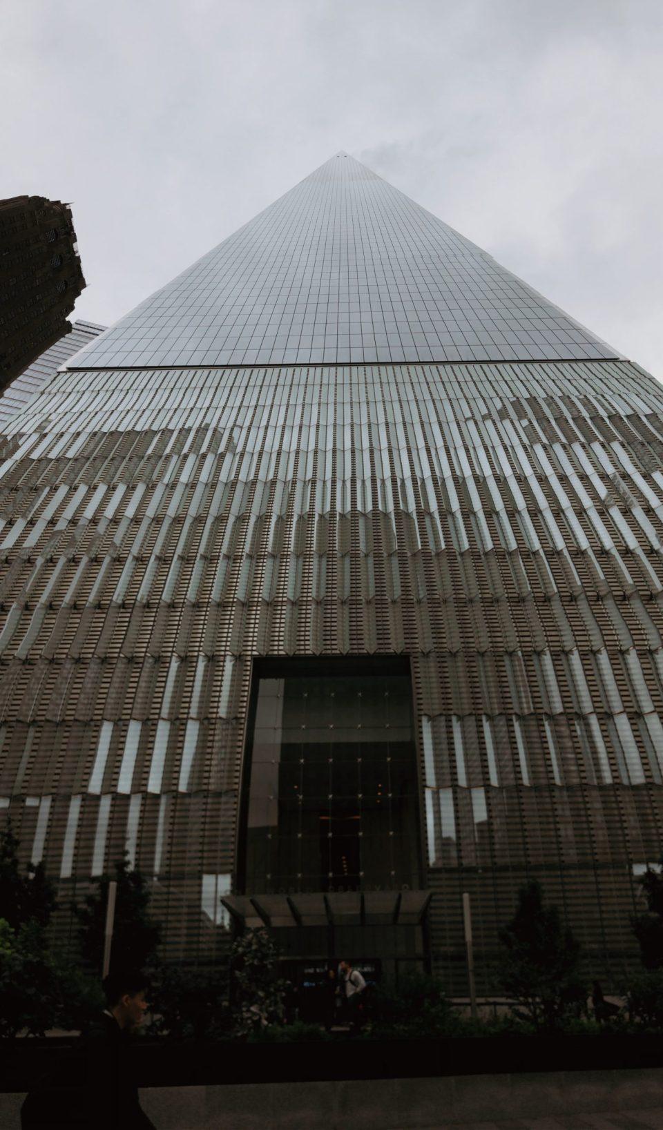 world trade center memorial into the sky